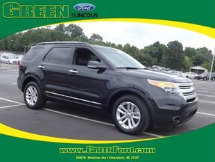 2013 Ford Explorer XLT SUV for sale in Greensboro for $27,000 with 38,061 miles.