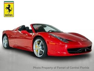 2014 Ferrari 458 Spider Base Convertible for sale in Orlando for $324,995 with 1,059 miles.