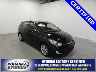 2013 Hyundai Accent SE Hatchback for sale in Fredericksburg for $13,658 with 17,482 miles.
