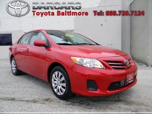 2013 Toyota Corolla LE Sedan for sale in Baltimore for $15,995 with 41,280 miles.