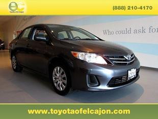 2013 Toyota Corolla LE Sedan for sale in El Cajon for $14,999 with 37,955 miles.