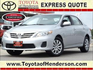 2013 Toyota Corolla LE Sedan for sale in Henderson for $13,981 with 31,230 miles.