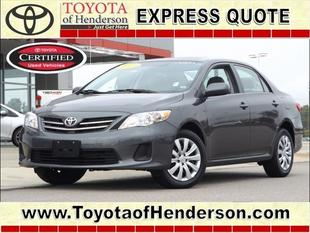 2013 Toyota Corolla LE Sedan for sale in Henderson for $13,981 with 31,523 miles.