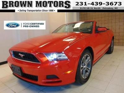 2014 Ford Mustang V6 Premium Convertible for sale in Petoskey for $24,595 with 32,042 miles.