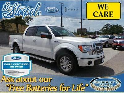 2012 Ford F150 Lariat Crew Cab Pickup for sale in Kerrville for $31,982 with 29,736 miles.