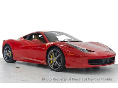 2011 Ferrari 458 Italia Base Coupe for sale in Orlando for $237,895 with 1,349 miles.