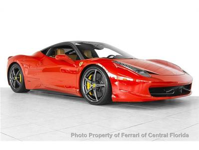 2011 Ferrari 458 Italia Base Coupe for sale in Orlando for $258,995 with 1,926 miles.