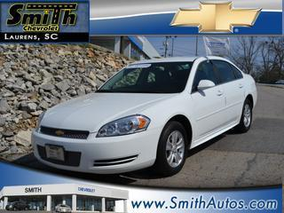 2013 Chevrolet Impala Sedan for sale in Laurens for $15,000 with 30,574 miles.