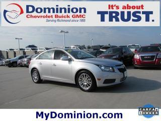 2012 Chevrolet Cruze Sedan for sale in Richmond for $14,613 with 38,607 miles.