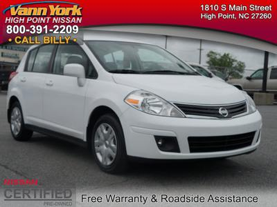 2012 Nissan Versa 1.8 S Hatchback for sale in High Point for $13,947 with 44,115 miles.