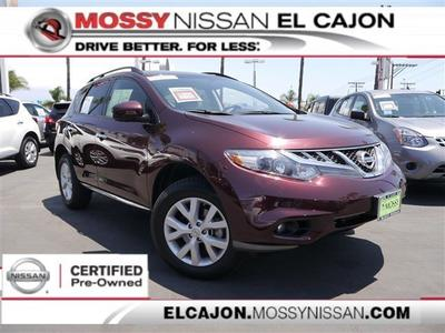 2013 Nissan Murano SV SUV for sale in El Cajon for $22,995 with 39,670 miles.