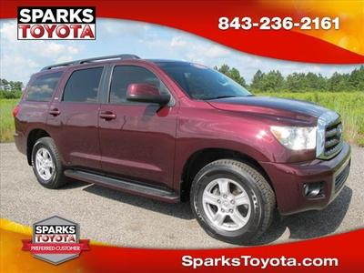 2010 Toyota Sequoia SR5 SUV for sale in Myrtle Beach for $27,500 with 65,305 miles.