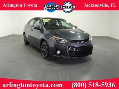 2014 Toyota Corolla S Plus Sedan for sale in Jacksonville for $19,284 with 30,509 miles.