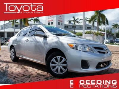 2012 Toyota Corolla Sedan for sale in Miami for $13,500 with 14,218 miles.