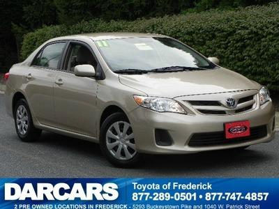 2011 Toyota Corolla LE Sedan for sale in Frederick for $12,988 with 44,851 miles.