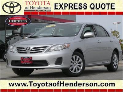 2013 Toyota Corolla Sedan for sale in Henderson for $17,981 with 17,462 miles.