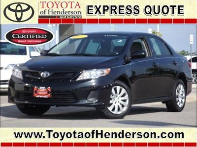2012 Toyota Corolla LE Sedan for sale in Henderson for $17,981 with 29,200 miles.