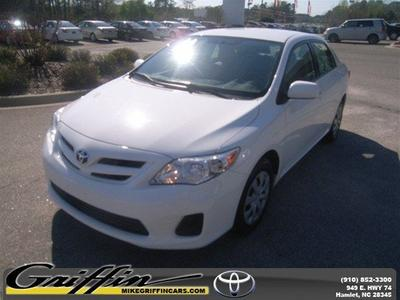 2011 Toyota Corolla LE Sedan for sale in Rockingham for $14,998 with 45,373 miles.