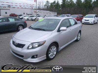 2010 Toyota Corolla S Sedan for sale in Rockingham for $16,998 with 49,080 miles.