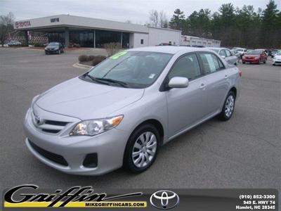 2012 Toyota Corolla LE Sedan for sale in Rockingham for $16,998 with 41,463 miles.