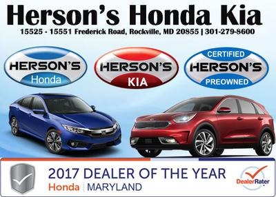 Herson 39 s honda kia in derwood including address phone for Herson honda rockville