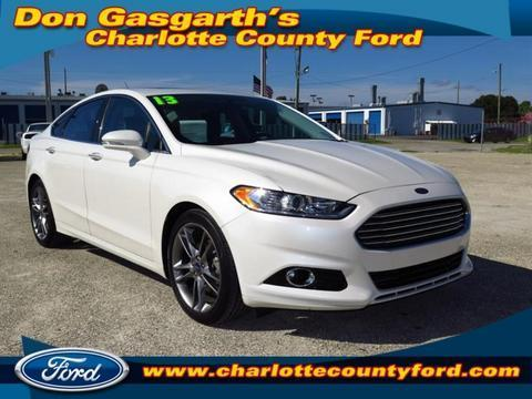 2013 Ford Fusion Titanium Sedan for sale in Port Charlotte for $22,900 with 21,972 miles.