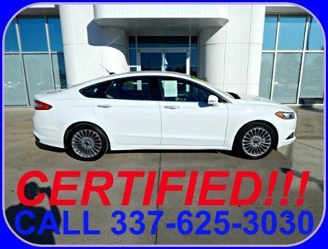 2014 Ford Fusion Titanium Sedan for sale in Sulphur for $21,878 with 31,750 miles.