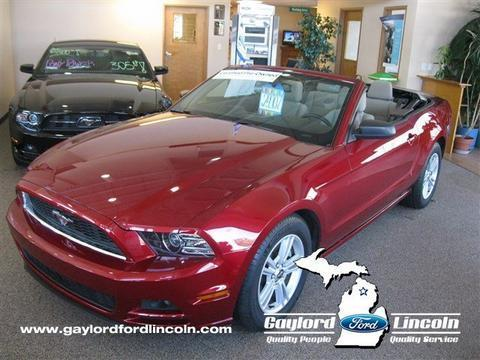 2014 Ford Mustang V6 Convertible for sale in Gaylord for $23,416 with 22,038 miles.