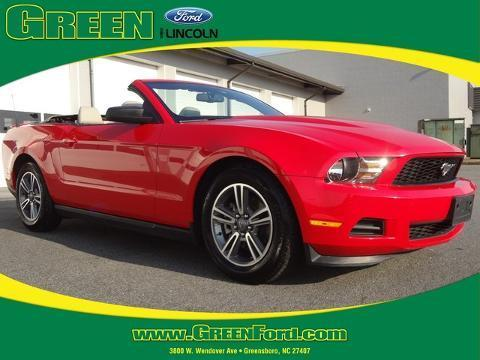2012 Ford Mustang V6 Premium Convertible for sale in Greensboro for $21,999 with 52,859 miles.