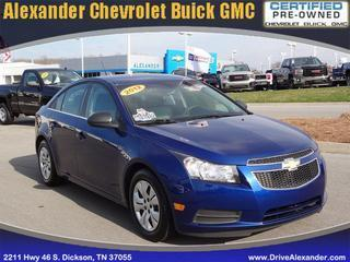 2012 Chevrolet Cruze Sedan for sale in Dickson for $13,523 with 60,928 miles