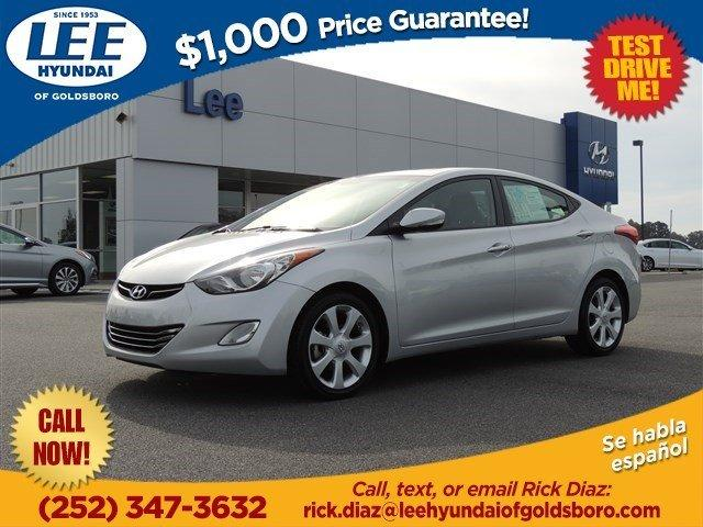 2013 Hyundai Elantra Limited Sedan for sale in Goldsboro for $15,700 with 58,442 miles.