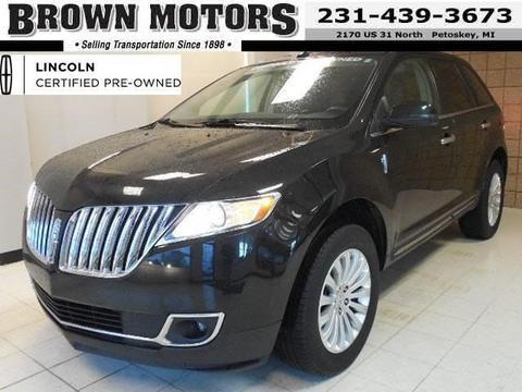 2012 Lincoln MKX Base SUV for sale in Petoskey for $29,995 with 38,888 miles.