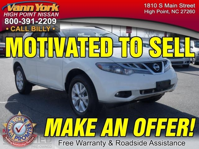 2013 Nissan Murano SV SUV for sale in High Point for $21,947 with 65,149 miles