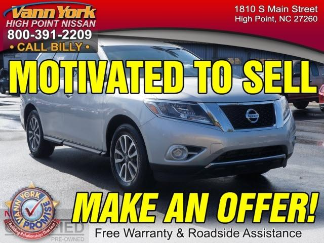 2014 Nissan Pathfinder SV SUV for sale in High Point for $26,947 with 20,736 miles