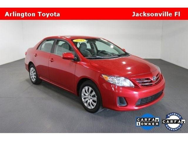 2013 Toyota Corolla LE Sedan for sale in Jacksonville for $14,488 with 40,532 miles.