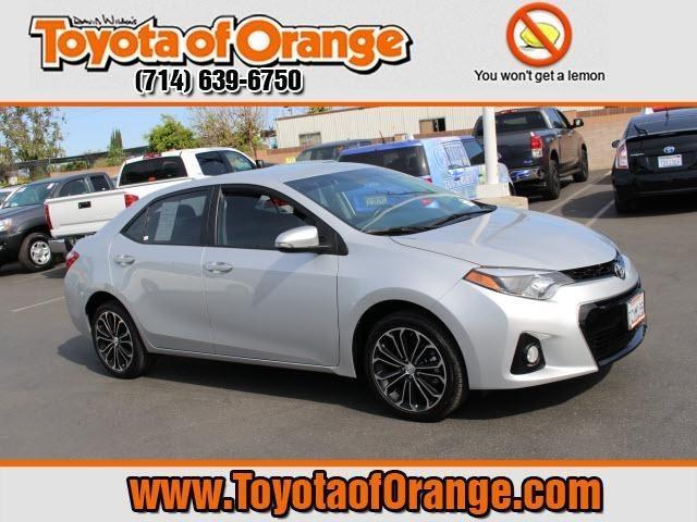 2014 Toyota Corolla S Plus Sedan for sale in Orange for $19,999 with 28,948 miles