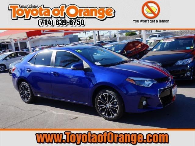 2014 Toyota Corolla S Plus Sedan for sale in Orange for $19,999 with 21,883 miles.