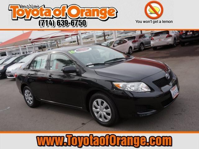 2010 Toyota Corolla LE Sedan for sale in Orange for $14,999 with 42,448 miles.