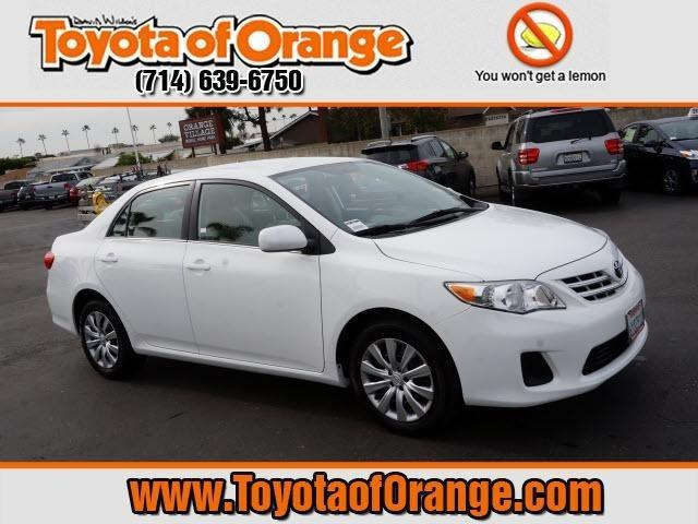 2013 Toyota Corolla LE Sedan for sale in Orange for $17,999 with 28,411 miles.