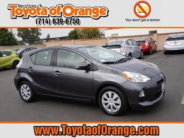 2013 Toyota Prius C Hatchback for sale in Orange for $19,999 with 26,004 miles.