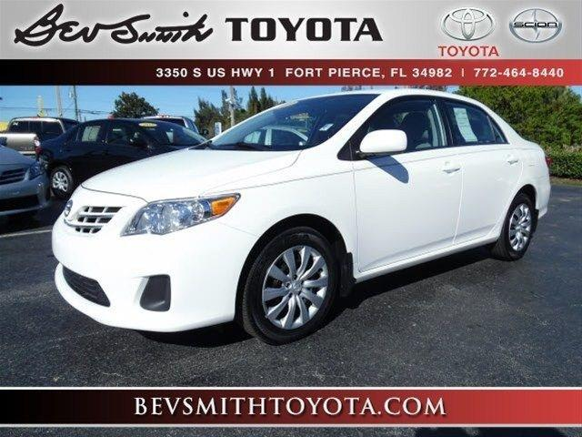 2013 Toyota Corolla LE Sedan for sale in Fort Pierce for $16,239 with 30,022 miles.