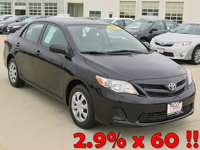 2011 Toyota Corolla LE Sedan for sale in Crystal Lake for $14,989 with 28,079 miles.
