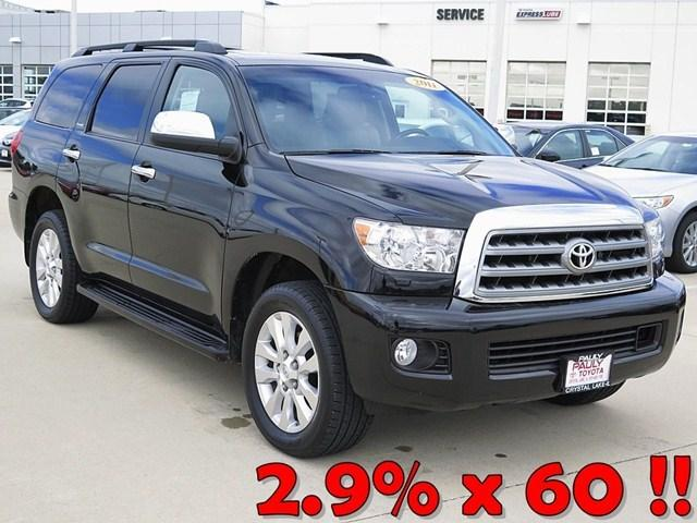2011 Toyota Sequoia Platinum SUV for sale in Crystal Lake for $42,989 with 49,735 miles.