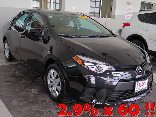 2014 Toyota Corolla Sedan for sale in Crystal Lake for $15,989 with 4,630 miles.