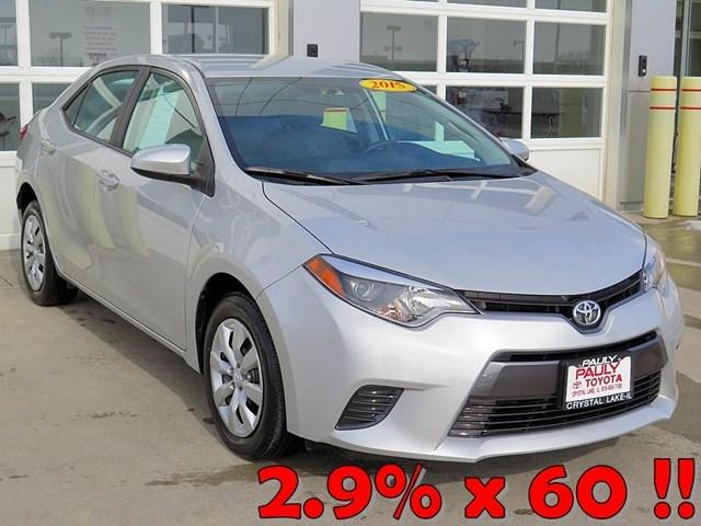 2015 Toyota Corolla Sedan for sale in Crystal Lake for $16,989 with 3,418 miles.