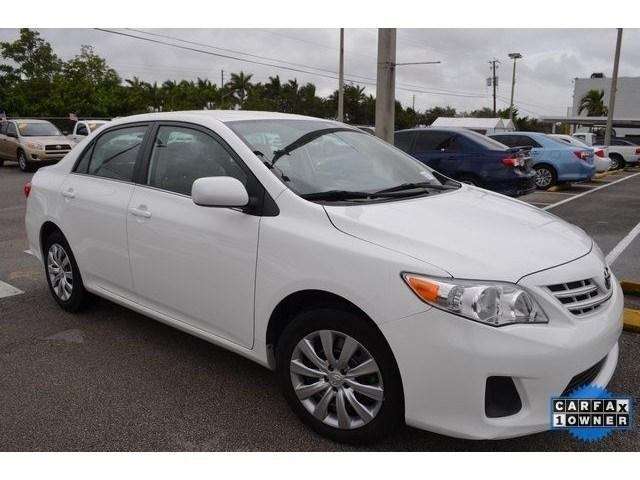 2013 Toyota Corolla LE Sedan for sale in Homestead for $13,127 with 35,638 miles.
