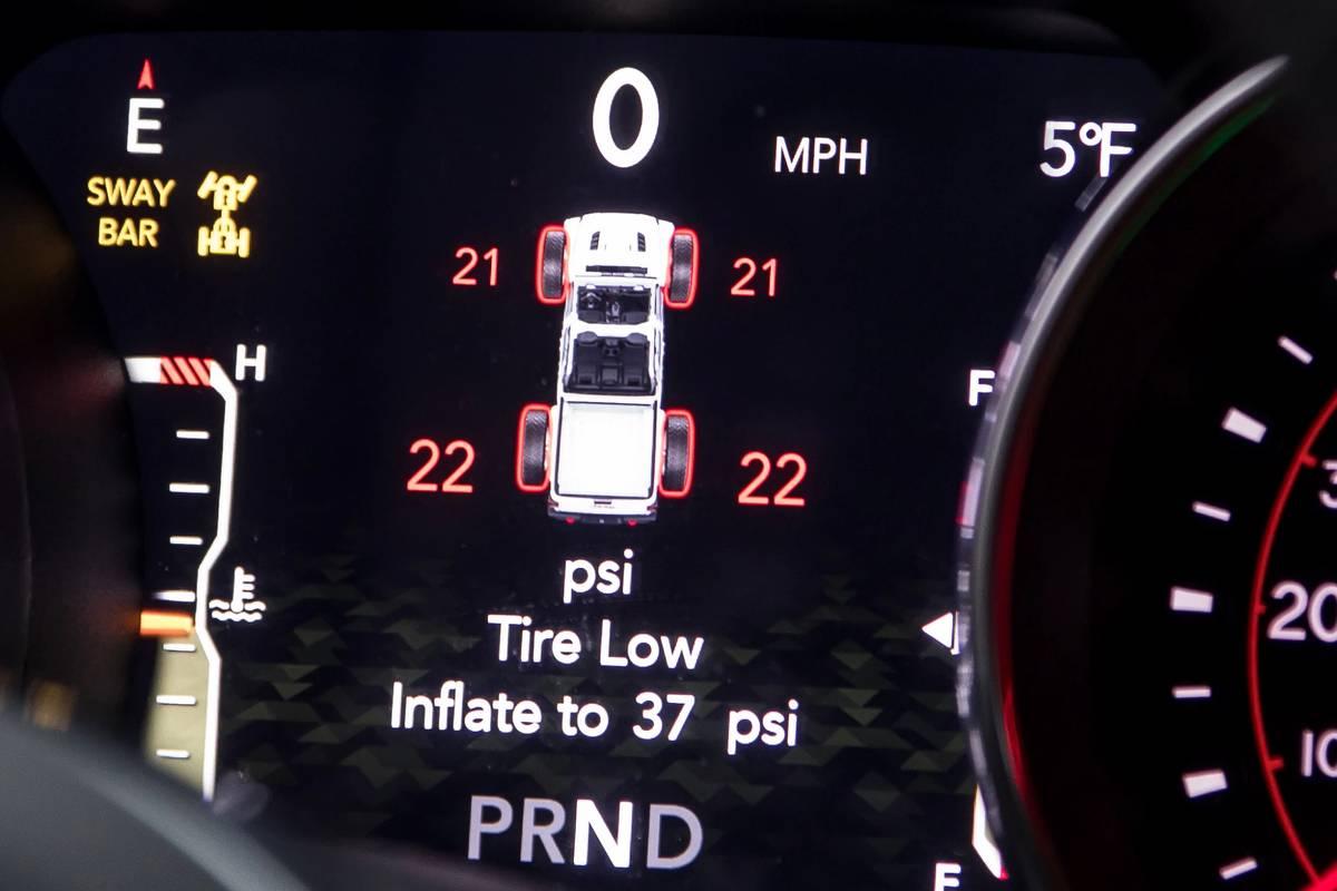 2020 Jeep Gladiator Rubicon tire pressure monitoring system
