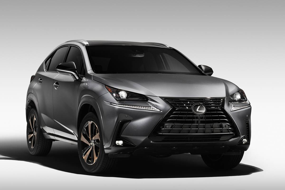 Front angle view of a 2020 Lexus NX Black Line