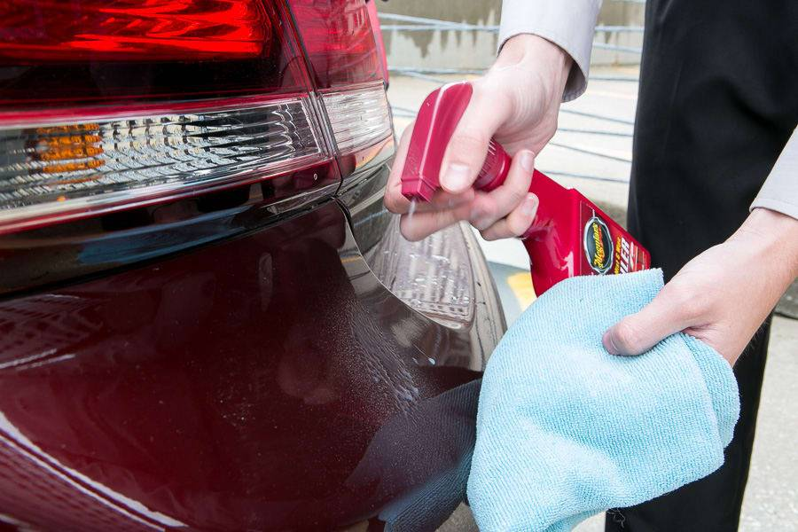 Cleaning sticker residue off a car