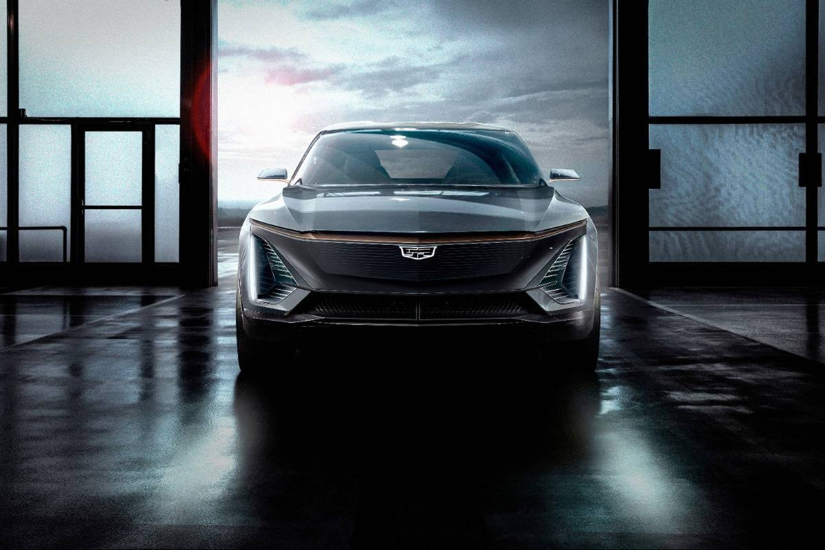 A rendering of the all-new Cadillac LYRIQ